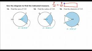 day 01 hw 14 how do you find the radius given the sector area