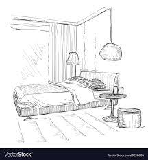 Bedroom Interior Design Sketches Bedroom Modern Interior Drawing Sketch