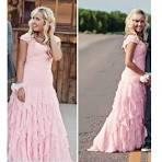 Elegant pink prom dresses 2017