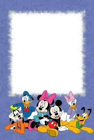 walt disney characters photo frame for children crafts printable picture frames 4 6