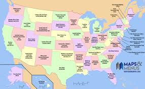 Popular Map Most A Us - Attraction State Of Each The Flytrippers With