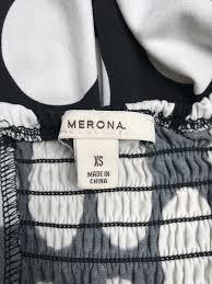 Merona Womens Black And White Dress Size Xs Regular
