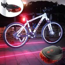 Ultra Bright Bicycle Tail Light Laser Light Waterproof Safety Warning Rear Light Red Led Back Light Flashlight Lamp For Mountain Bike 2 Laser 5 Led 7