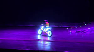 Bike Neon Lights Neon Lights On A Freestyle Motocross Bike At Motorcycle Live