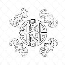 Staré čínské Tetování A Symbol Dlouhého života