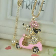 aocarla ride bike dog bead sweater jewelry for women