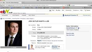 Josh Butler Auctioned Himself On eBay