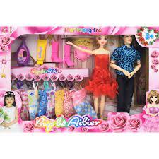 SHOP 8 ) ( Hàng sẵn ) Búp bê Barbie ???? ???? thời trang Aibier và  bộ phụ kiện, váy đầm MM222 MM222 chính hãng 346,800đ