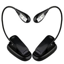 flexible arm led clip camping light on bed book reading