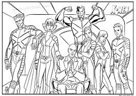x men coloring pages free printable 17