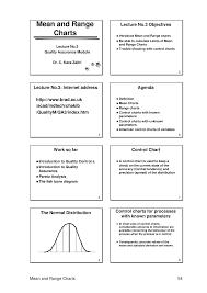 Mean Range Chart Mean And Range Charts Mktg 6170 Marketing Management Studocu