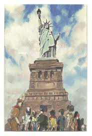 statue of liberty the rockwell center for american visual studies norman rockwell 1894 1978 the statue of liberty 1946 oil sketch for cover illustration