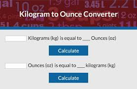 Convert Kilograms To Ounces Lovetoknow