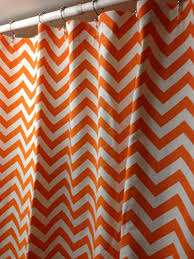 extra long fabric shower curtain 72 x 84 inches premier prints zig zag chevron mandarin