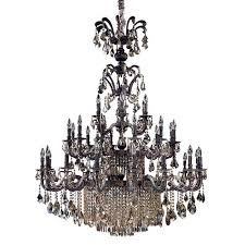 allegri by kalco avelli sienna bronze and antique silver leaf 41 light two tier chandelier