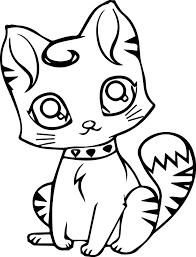 Small Picture Cute Cat Coloring Pages coloringsuitecom