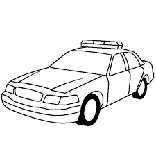 Police Car Coloring Pages For Preschoolers Cop Car Coloring Pages