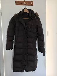 gap women down jacket winter coat uk size xs brown