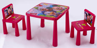 Plastic Table Chair Set Disney Plastic Table And Chair Set