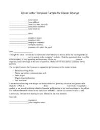 cover letter for new career template cover letter for new career