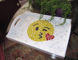 Gift Tray Decoration Kiss Emoji Emoji Tray Decorative Tray Winky kiss Emoji Mosaic 81
