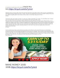 writing jobs work at home earn daily 3 not