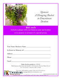 Fundraising Flyer Flower Fundraising Flyer 24 Downtown Denton Main Street 19
