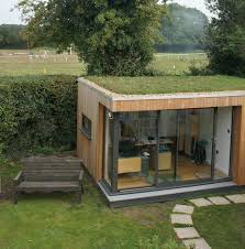prefab garden office. This Client Loves His Garden Room Sedum Roof So Much He Smiles Every Day Tiny Houses Cabins And Other Small Buildings Pinterest Prefab Office 0