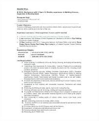 Welding Resume Examples Custom Welder Resume Sample Resume Welder Cv Sample Uk Noxdefense