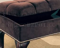 black tufted storage bench. Innovative Tufted Storage Bench And Brown Button Wnailhead Trim Black
