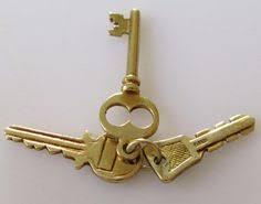 9ct Gold Set of Keys Charm House keys Gold set and Key pendant