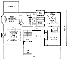 Cottage House Plan   Bedrooms and   Baths   Plan upper level