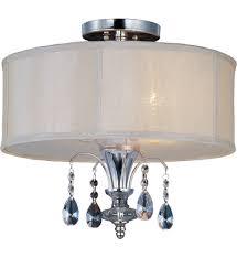 maxim lighting 24301clbspn montgomery polished nickel semi flush mount