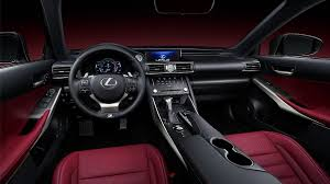 interior shot of the 2019 lexus is shown with rioja red nuluxe trim