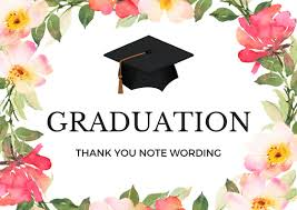 Graduation Thank You Note Graduation Thank You Notes Wording For Thank You Cards
