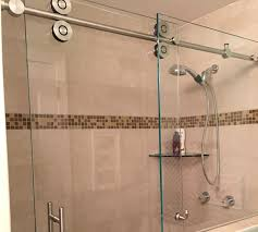 Glass Enclosed Showers barn style glass shower doors builders glass of bonita inc 2360 by xevi.us
