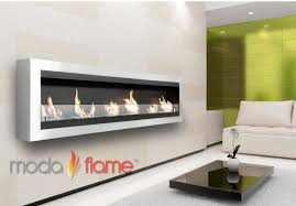 verrazano wall mounted ethanol fireplace in stainless steel