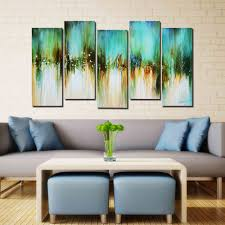 Oil Paintings For Living Room Artland Hand Painted Framed Wall Art Blue Skies 5 Piece Gallery