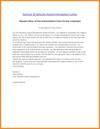 5 Sample Recommendation Letter For Employee Graphic Resume
