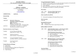 Resume Template Examples Australia Therpgmovie