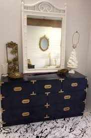 campaign style dresser. Anyone Have One They Want To Sell Navy Lacquered Campaign Style Dresser Intended