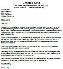 School Nurse Cover Letter Examples Resume And Cover Letter