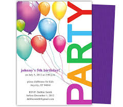 children party invitation templates kids party templates balloons kids birthday party invitations