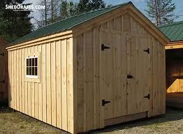10x10 gable garden storage shed plans blueprints 00 draft design