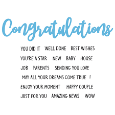 Words For Congratulations Hunkydory Moonstone Combos Essential Words Congratulations Die And Stamp Set