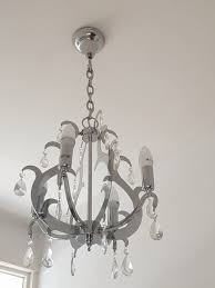 two chrome chandelier ceiling lights 40 each or 60 for pair east dulwich
