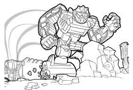boulder transformers rescue bots coloring page