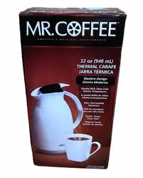 Find amazing products in carafes, pitchers and tumblers' today   mr. Mr Coffee Thermal Carafe 32 Oz White Double Wall Glass Liner Brand For Sale Online Ebay