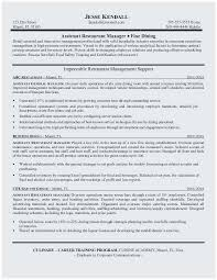 Sample Project Manager Resume Objective Popular Restaurant Manager