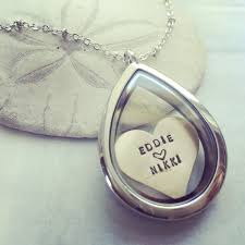 custom made personalized locket necklace heart necklace floating locket custom name necklace